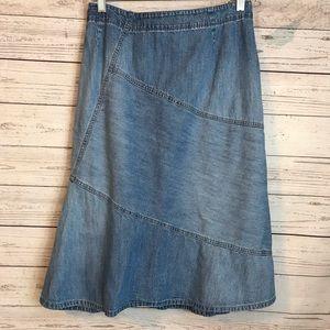 Size 18W Long Blue Jean Denim Skirt
